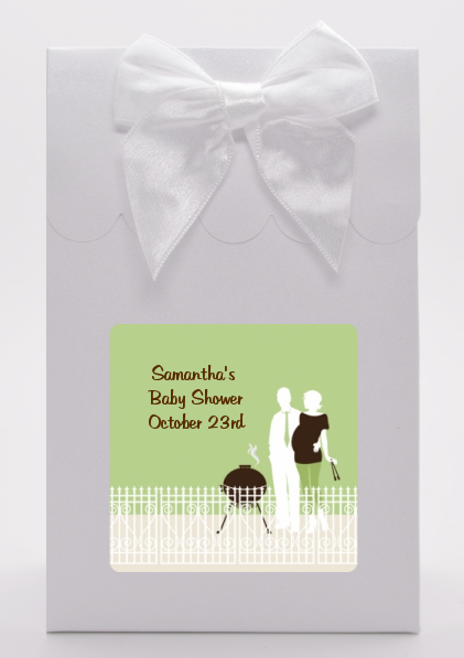 Silhouette Couple BBQ Neutral - Baby Shower Goodie Bags