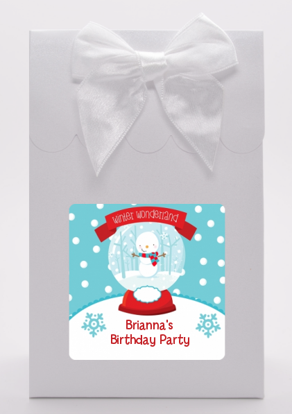 Snow Globe Winter Wonderland - Birthday Party Goodie Bags