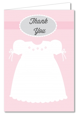 Sweet Little Lady - Baby Shower Thank You Cards