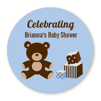 Teddy Bear Blue - Personalized Baby Shower Table Confetti