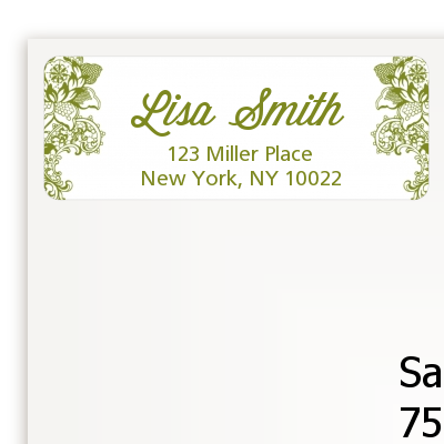 Winery - Bridal Shower Return Address Labels