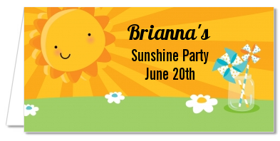 You Are My Sunshine - Personalized Birthday Party Place Cards