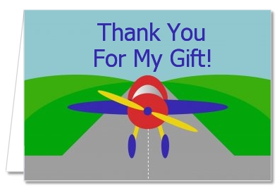 Airplane - Birthday Party Thank You Cards