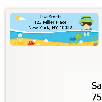 Beach Boy - Birthday Party Return Address Labels
