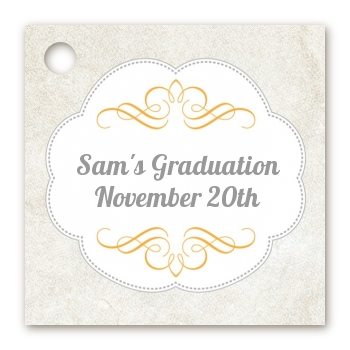 Con-Grad-ulations - Personalized Graduation Party Card Stock Favor Tags