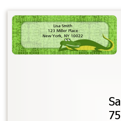 Gator - Birthday Party Return Address Labels