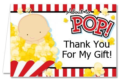 About To Pop ® - Baby Shower Thank You Cards African American
