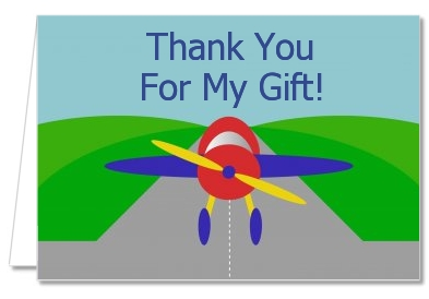 Airplane - Baby Shower Thank You Cards