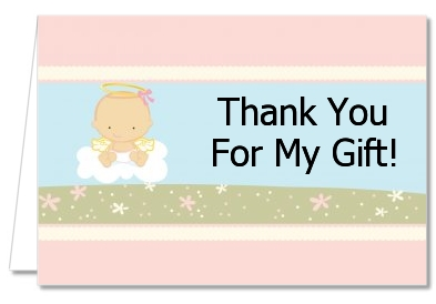 Angel in the Cloud Girl - Baby Shower Thank You Cards