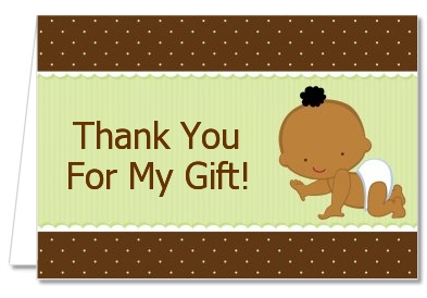 Baby Neutral African American - Baby Shower Thank You Cards