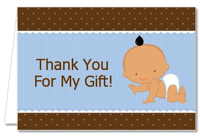 Baby Boy Hispanic - Baby Shower Thank You Cards