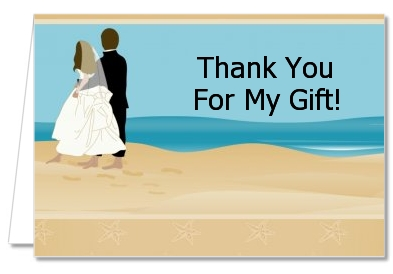 Beach Couple - Bridal Shower Thank You Cards