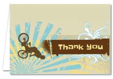 BMX Rider - Birthday Party Thank You Cards