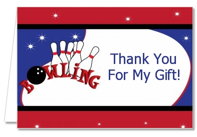 Bowling Boy - Birthday Party Thank You Cards
