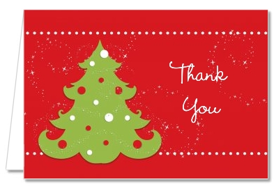 Christmas Tree - Christmas Thank You Cards