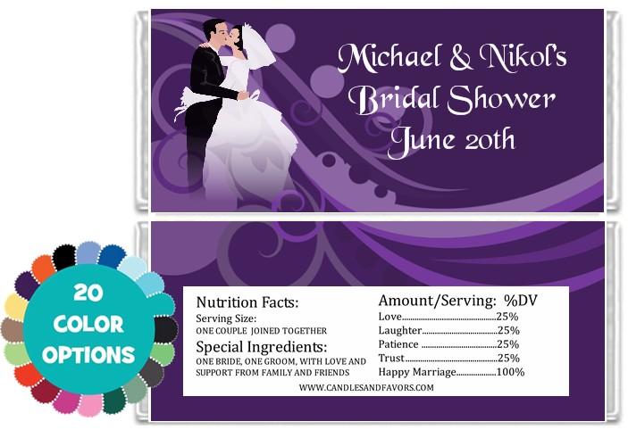 Custom Wedding Personalized Bridal Shower Candy Bar Wrers