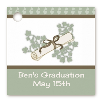 Graduation Diploma - Personalized Graduation Party Card Stock Favor Tags