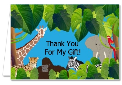 King of the Jungle Safari - Baby Shower Thank You Cards