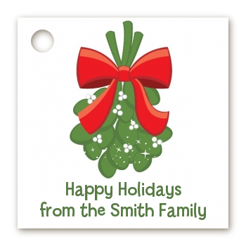Mistletoe - Personalized Christmas Card Stock Favor Tags