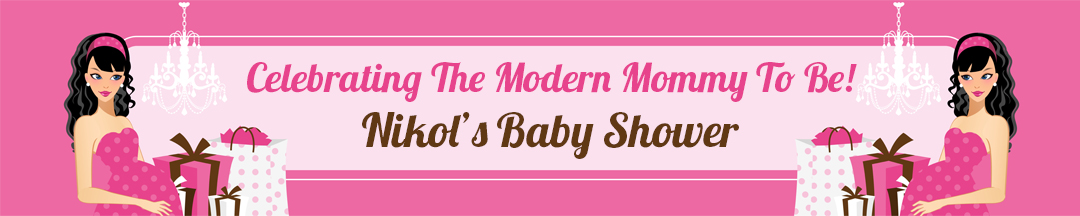 Modern Mommy Crib It's A Girl - Personalized Baby Shower Banners Black Hair A