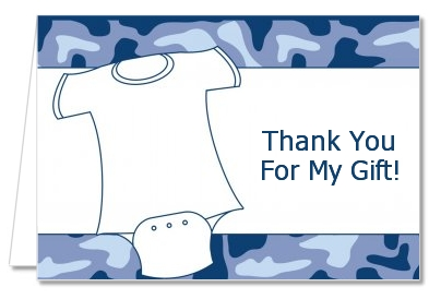 Baby Outfit Camouflage - Baby Shower Thank You Cards
