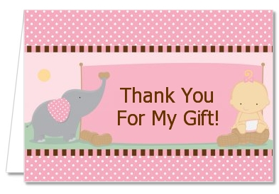 Our Little Peanut Girl - Baby Shower Thank You Cards