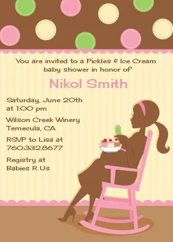 Pickles Amp Ice Cream Baby Shower Invitations Candles And