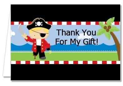 Pirate - Birthday Party Thank You Cards