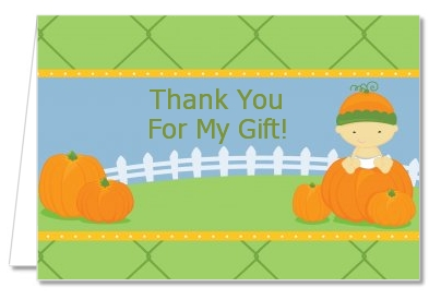 Pumpkin Baby Asian - Baby Shower Thank You Cards