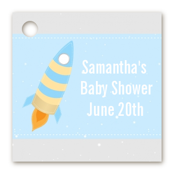 Rocket Ship - Personalized Baby Shower Card Stock Favor Tags