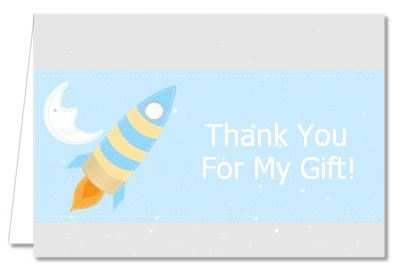 Rocket Ship - Baby Shower Thank You Cards