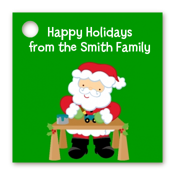 Santa's Work Shop - Personalized Christmas Card Stock Favor Tags