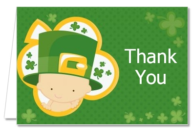 St. Patrick's Baby Shamrock - Baby Shower Thank You Cards