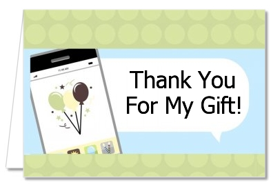 Social Media Texting - Birthday Party Thank You Cards