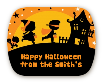 Trick or Treat - Personalized Halloween Rounded Corner Stickers
