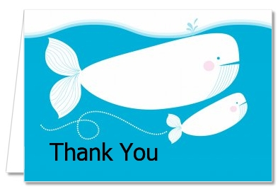 Whale Of A Good Time - Birthday Party Thank You Cards
