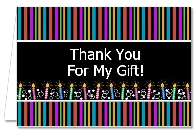 Birthday Wishes - Birthday Party Thank You Cards