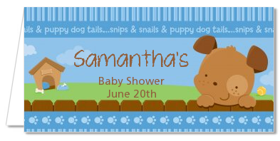 Puppy Dog Tails Boy - Personalized Baby Shower Place Cards