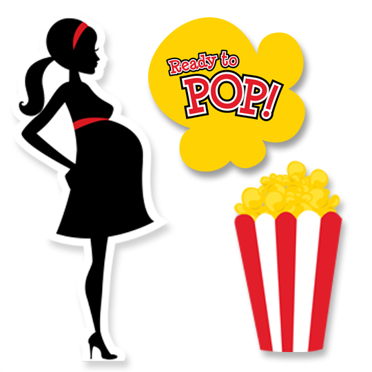 Ready To Pop ® - Baby Shower Printed Shaped Cut-Outs