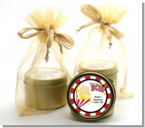 About To Pop - Baby Shower Gold Tin Candle Favors