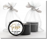 About To Pop Glitter - Baby Shower Black Candle Tin Favors