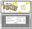 About To Pop Gold Glitter - Personalized Baby Shower Candy Bar Wrappers thumbnail