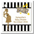About To Pop Gold Glitter - Personalized Baby Shower Card Stock Favor Tags thumbnail