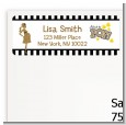 About To Pop Gold Glitter - Baby Shower Return Address Labels thumbnail
