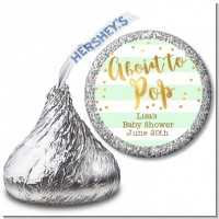 About To Pop Gold - Hershey Kiss Baby Shower Sticker Labels