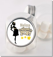 About To Pop Mommy Gold - Personalized Baby Shower Candy Jar