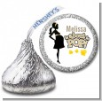 About To Pop Mommy Gold - Hershey Kiss Baby Shower Sticker Labels thumbnail