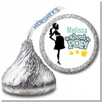 About To Pop Mommy - Hershey Kiss Baby Shower Sticker Labels