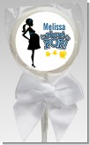 About To Pop Mommy Navy Blue - Personalized Baby Shower Lollipop Favors