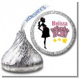 About to Pop Mommy Pink - Hershey Kiss Baby Shower Sticker Labels thumbnail